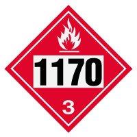 1170 Ethanol, Ethyl Alcohol - DOT Placards