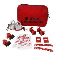 Brady 99303 120/277V Breaker Lockout Pouch With Brady Steel Padlocks & Tags
