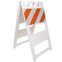 """45"""" x 25"""" Striped Barricade Plasticade® 100-W-T12EG"""