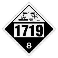 1719 Caustic Alkali Liquids - DOT Placards