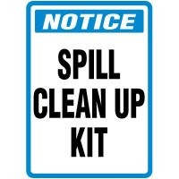 Spill Clean Up Kit Sign