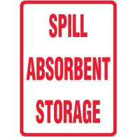 Spill Absorbent Storage Sign