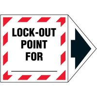 2-Part Arrow Labels - Lock-Out Point For _