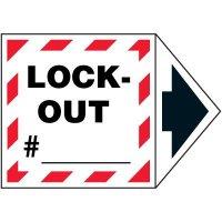 2-Part Arrow Labels - Lock-Out #_