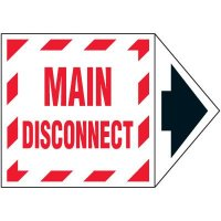 Main Disconnect Arrow Lockout Label