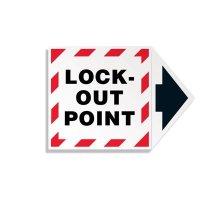 2-Part Arrow Labels - Lock-Out Point