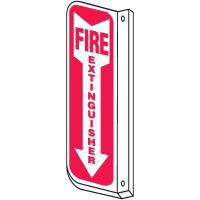 Slim-Line 2-Way Fire Extinguisher Sign