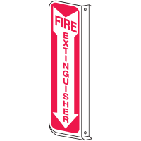 Slim-Line 2-Way Fire Extinguisher Signs