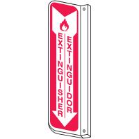 Bilingual Slim-Line 2-Way Extinguisher Sign