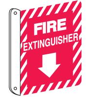 Standard 2-Way Fire Extinguisher Sign