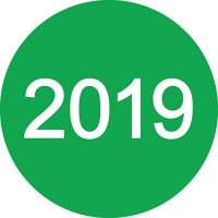 2019 Inventory Dot Paper Labels