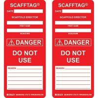 Danger - Do Not Use Scafftag Insert