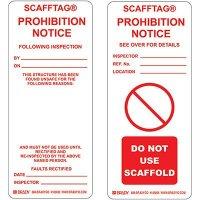 Prohibition Notice Scafftag Insert