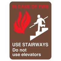 In Case of Fire Use Stairway Safety Sign (Black)