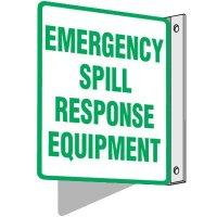 Emergency Spill Response Equipment Sign
