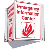 Emergency Information Center Sign