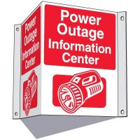 Power Outage Information Center Sign