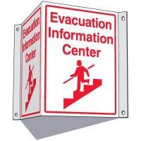 Evacuation Information Center Sign