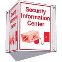 Security Information Center Sign
