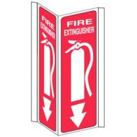 Slim-Line 3-Way Fire Extinguisher Sign (With Graphic)