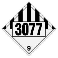 3077 Environmentally Hazardous, Solids- DOT Placards