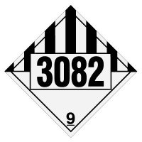 3082 Environmentally Hazardous, Liquids- DOT Placards