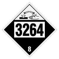 3264 Corrosive Liquid, Acidic, Inorganic - DOT Placards