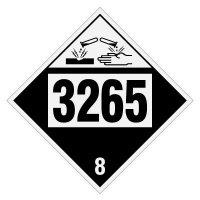 3265 Corrosive Liquid, Acidic, Organic - DOT Placards