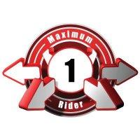 3D Bus Decals - Maximum 1 Rider - Red