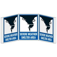 3D Projection Signs - Severe Weather Shelter Area