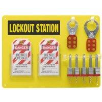 """5-Lock Board (Filled w/ Brady 3/4"""" Steel Padlocks)"""