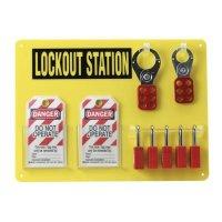 5-Lock Board (Filled w/ Brady Safety Padlocks)