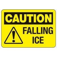OSHA Caution Sign: Falling Ice