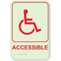 Accessible (Dynamic Accessibility) - Glo-Mor® Braille Interior Signs