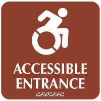 Accessible Entrance (Dynamic) - Optima ADA Restroom Signs