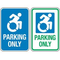 Accessible Icon Parking Sign - Parking Only (With Graphic)