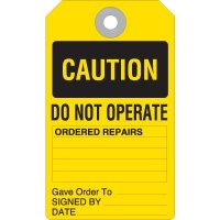 Caution Do Not Operate Accident Prevention Tag
