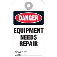 Equipment Needs Repair Accident Prevention Tag