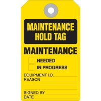 Maintenance Hold Accident Prevention Tag
