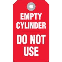 Empty Cylinder Accident Prevention Tag