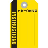 Special Instructions Accident Prevention Tag