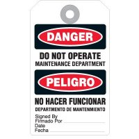 Bilingual Danger Do Not Operate Accident Prevention Tag