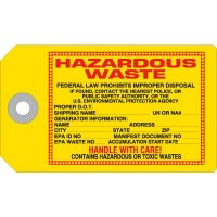 Hazardous Waste Accident Prevention Tag