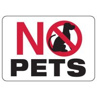 No Pets Restriction Sign