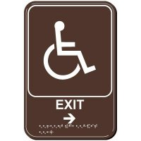 Exit Arrow Right ADA Signs