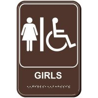 Girls Handicap ADA Sign