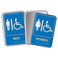 Braille ADA Restroom Signs