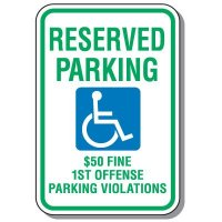 State-Specific Handicap Parking Signs - Alabama