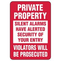 Security Alarm Signs - Silent Alarms