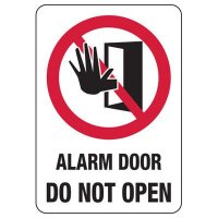 Security Alarm Signs - Alarm Door